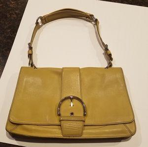 Coach mustard yellow purse